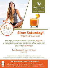 Slow Saturday yogales & slowjuice Zat. 13 juni